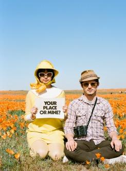 Elijah Wood and Shirley Kurata - road trip with rodarte antelope valley, California