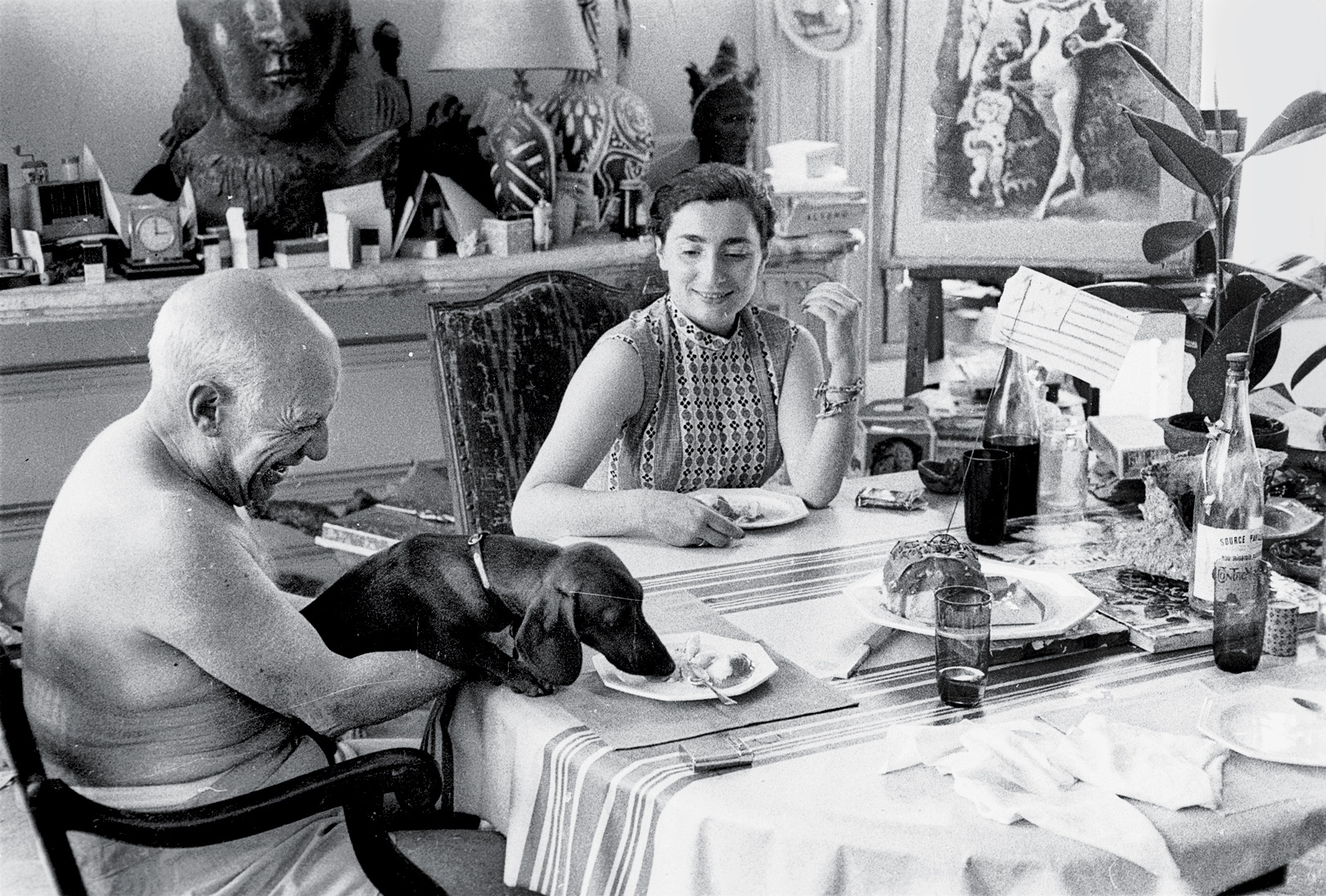 Picasso and Jacqueline in 1957