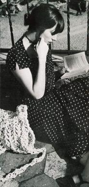 Jane Birkin reading book. Les Midis de Jane - Paris Vogue c.1970
