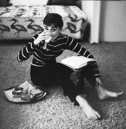 Audrey Hepburn during the filming of Sabrina, Wilshire Boulevard by Mark Shaw for Life magazine, 1953