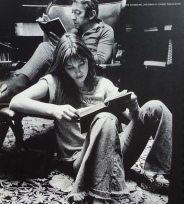"""Serge and Jane - """"Books and paris"""" by Oliviero Toscani, 1972"""